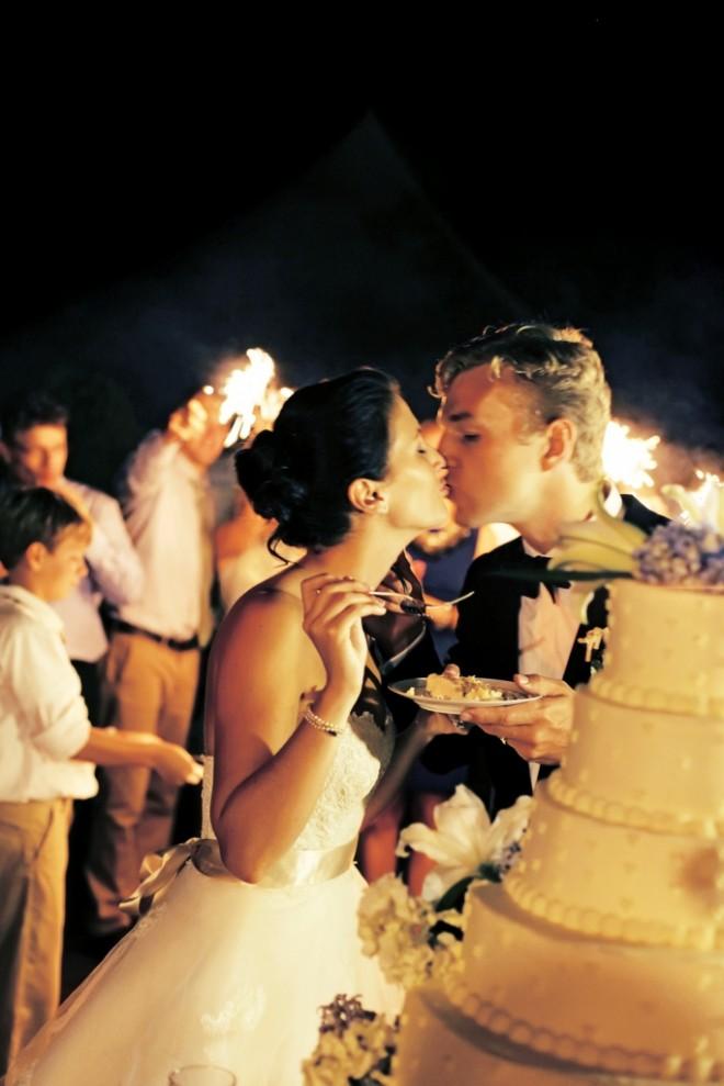 fireworks cake cutting philadelphia weddings evantine design