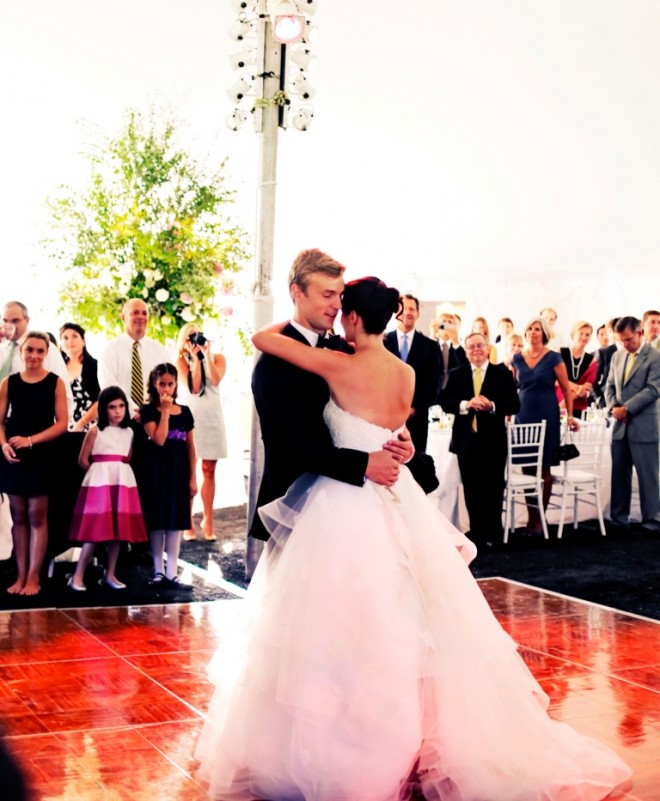 First Dance Summer Tented Weddings South Jersey Evantine Design