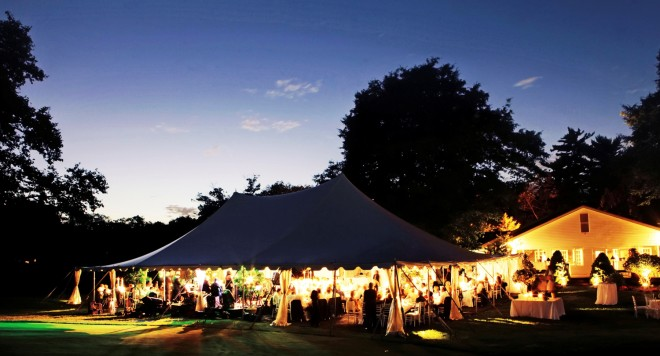 Pole Tents New Jersey Weddings Landscape Lighting