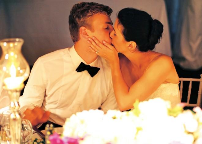Romantic Kiss Bride and Groom Candid Wedding Photography Peter Van Beever