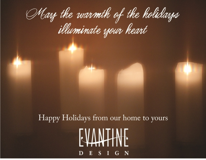 Happy Hanukkah from Evantine Design