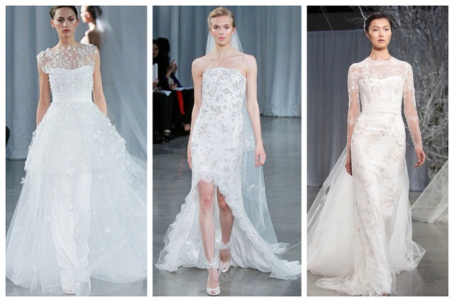 Monique Lhuillier Fall 2013 Collage