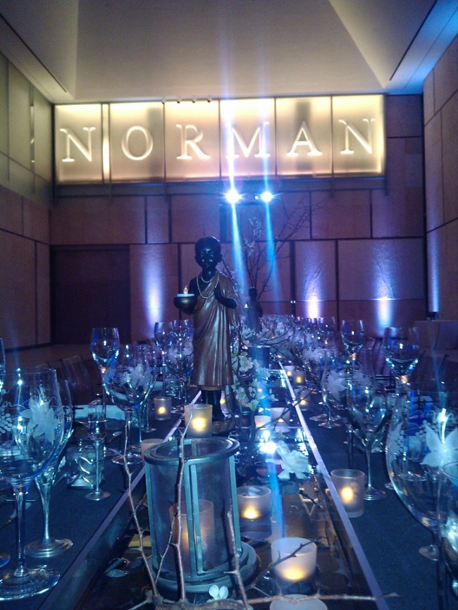 norman custom signs for events zen inspired party design evantine