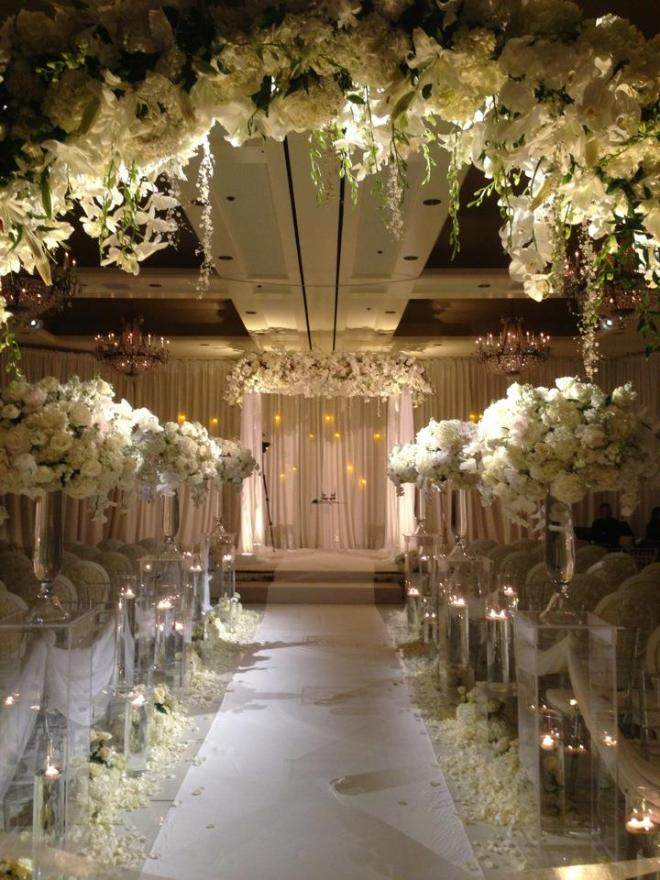 Winter White Wedding Ceremony Chuppah