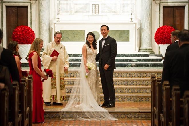 Red Ceremony Decor Philadelphia Weddings Evantine Cliff Mautner