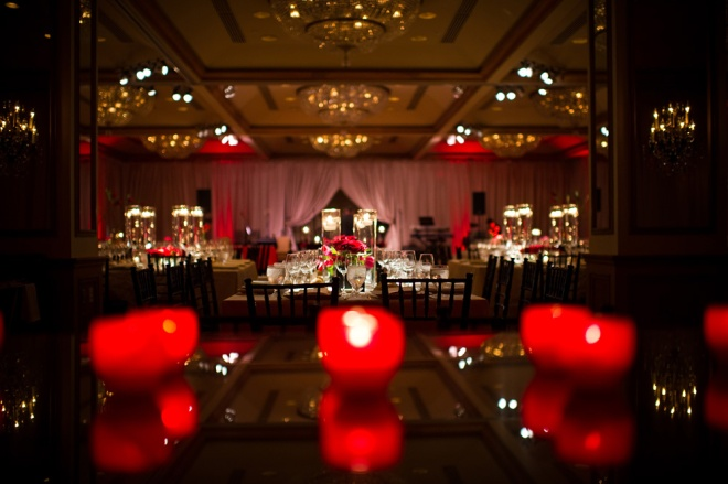Red Lighting Weddings Rittenhouse Hotel Evantine Design Cliff Mautner