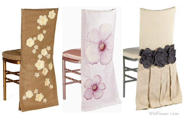 Beau Spring Chair Covers Wildflower Collage