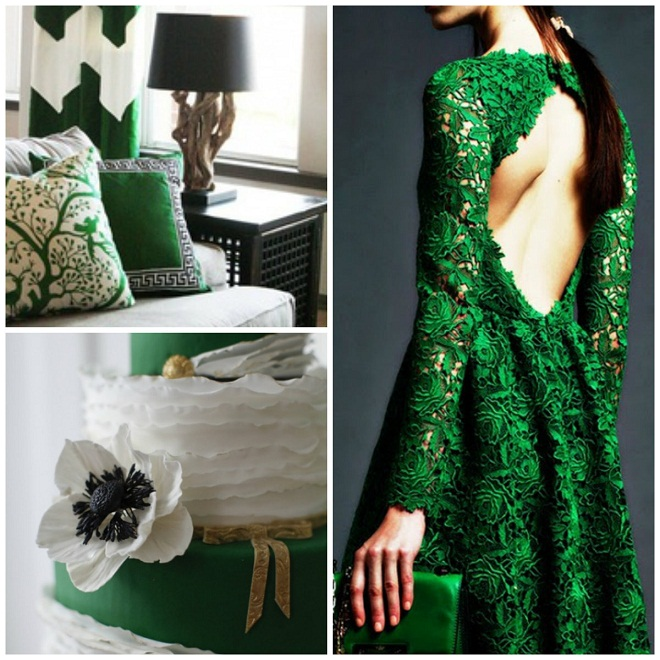 pantone color trends, green wedding design, philadelphia weddings