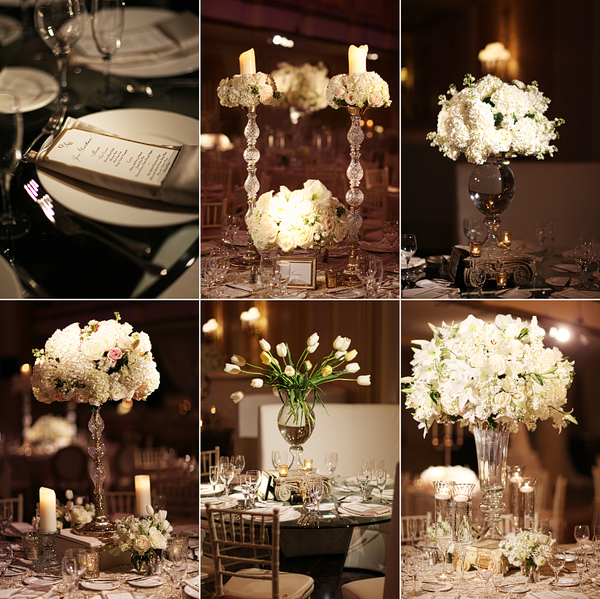 White Floral Centerpieces Wedding Designers Philadelphia