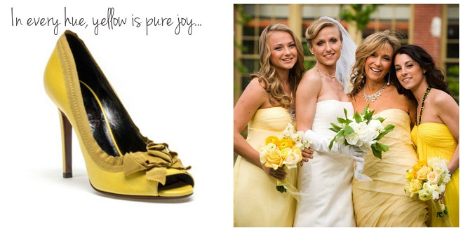 yellow fashion inspiration for weddings evantine design
