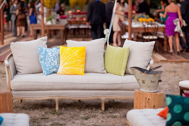 Yellow Pillows Outdoor Weddings Evantine Design