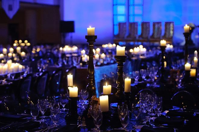 Black Candles Black Vinyl Black Lucite Gold Luxe Chairs Evantine Design A