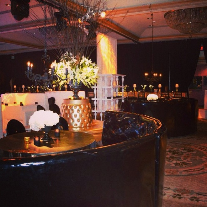 gold and black bar mitzvah rittenhouse hotel evantine