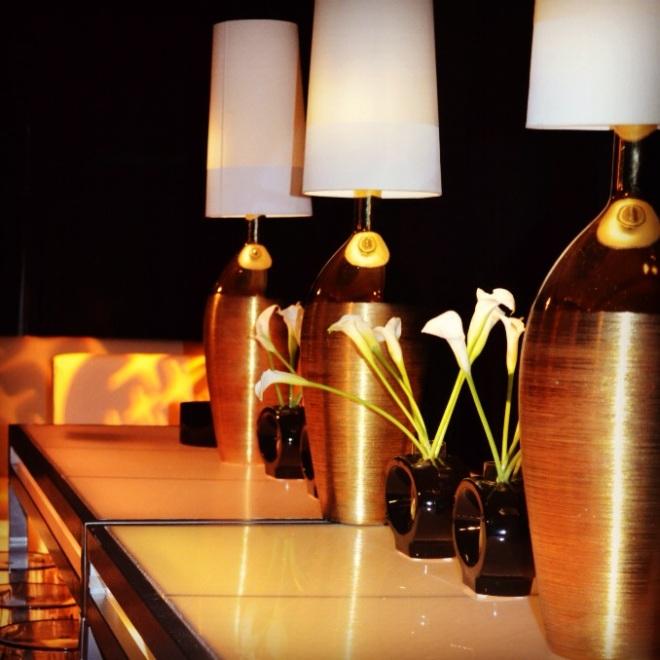 gold and black party design philadelphia florists evantine