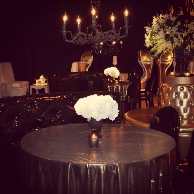 gold and black wedding design philadelphia event planners