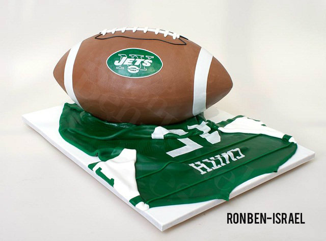 Jets Football Bar Mitzvah Cake Ron Ben-Israel