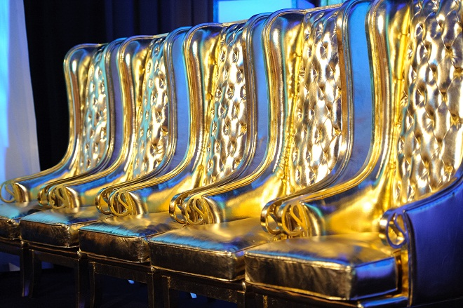 Metallic Gold Armchairs Luxe Event Rental Evantine Design