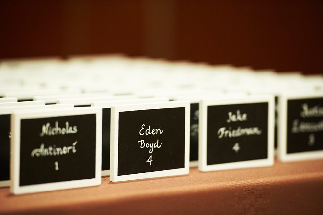 Mini Chalkboard Seating Cards for Bar Mitzvahs