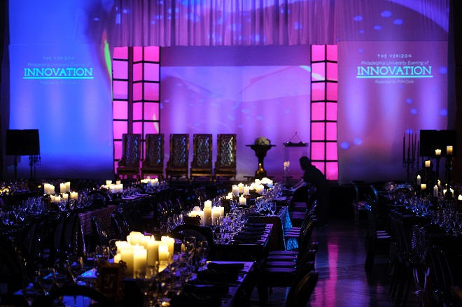 Pink Stage Gold Chairs Evening of Innovation John Varvatos A