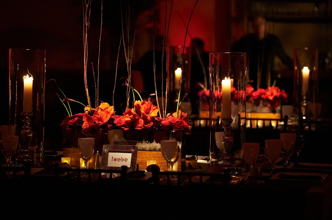 Red Floral Centerpieces for Weddings Evantine Design-c