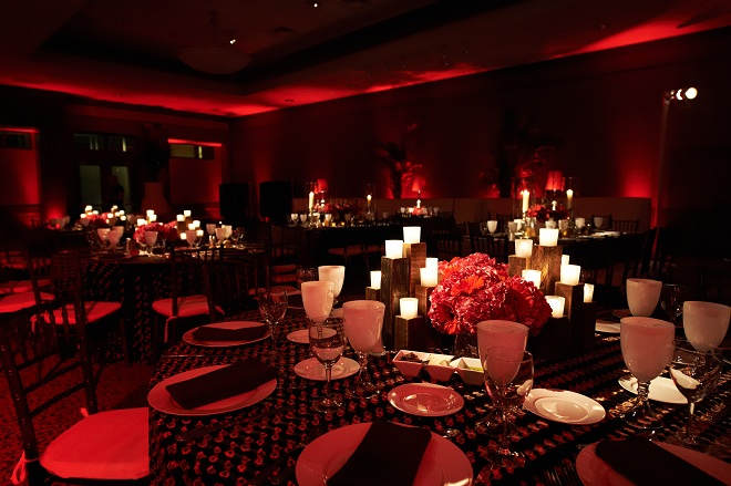 Red Lighting for Parties Eventions Productions Evantine-c