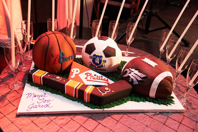 Sports Themed Mitzvah Cakes Philadelphia Event Designers Evantine Classic Cake Co