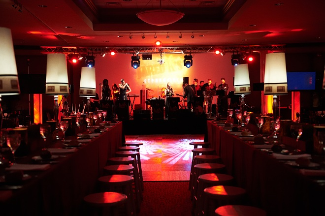Steakhouse Themed Bar Mitzvahs Stage Design Eventions Productions Logo Backdrop