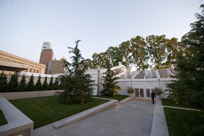 Barnes Museum Opening Gala Tent Evantine Design EventQuip
