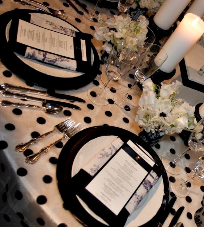 Black and White Polka Dots Evantine Design Paul Loftland