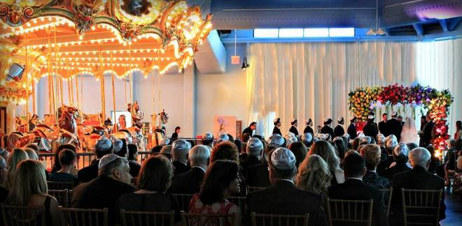 Carousel Wedding Please Touch Museum Chuppah Evantine Design