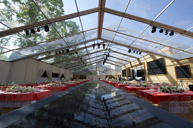 Clear Party Tents Decorative Water Features for Events Evantine