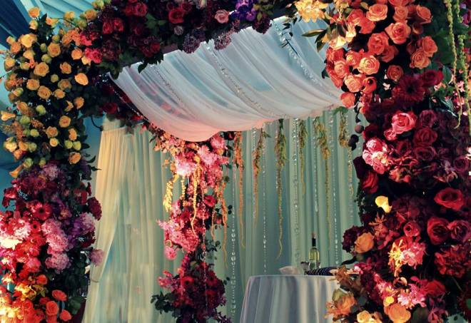 Colorful Chuppah Arlene Bluestein Evantine Design