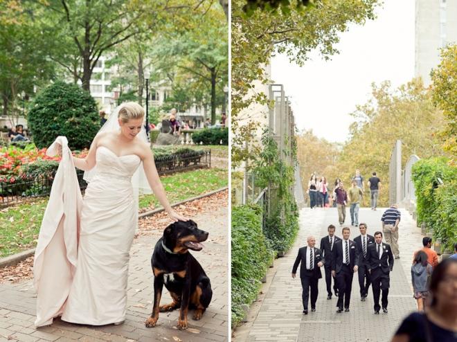 Bridal Portraits with Dogs Philadelphia Weddings