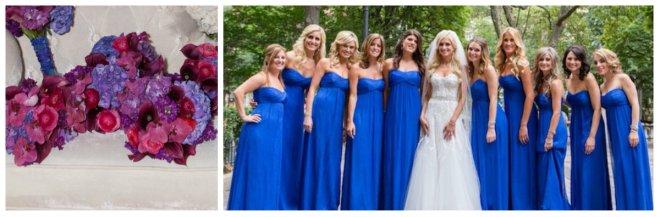 blue pink and purple bridesmaids philadelphia weddings