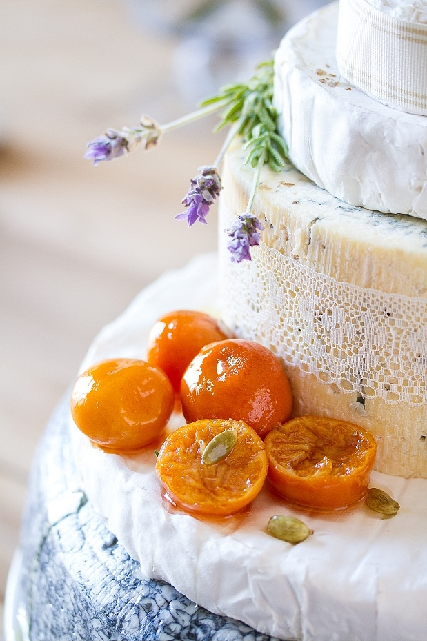 wedding cake made with cheese wheels tasha seccombe