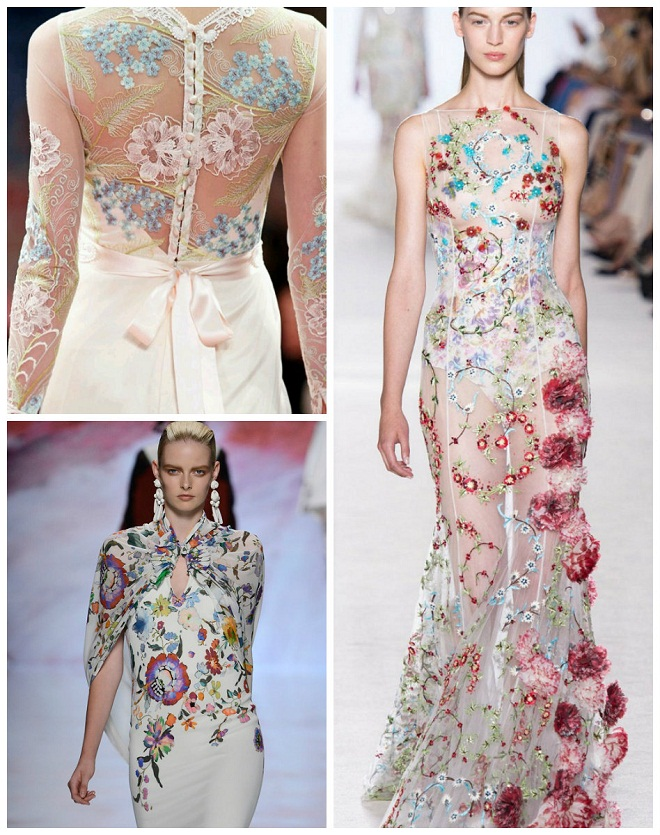 Embroidered gowns evantine design