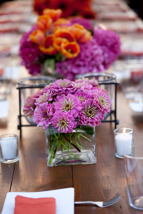 Purple Zinnias Summer Weddings Philadelphia Event Designers Evantine Design