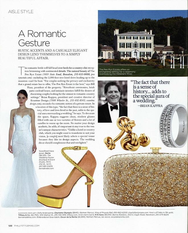 Aisle Style Brian Kappra Philadephia Style Magazine Evantine Design