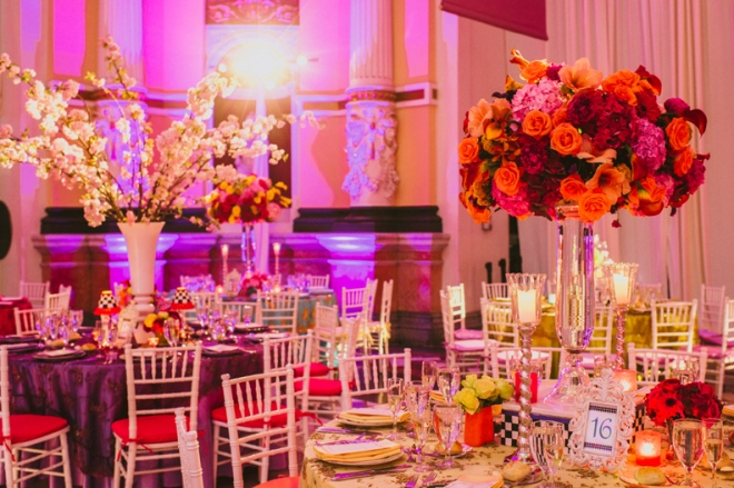Colorful Wedding Decor Philadelphia Wedding Planners Evantine Design
