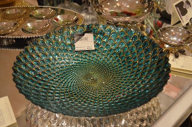 turquoise blue serving bowls evantine design tablewares