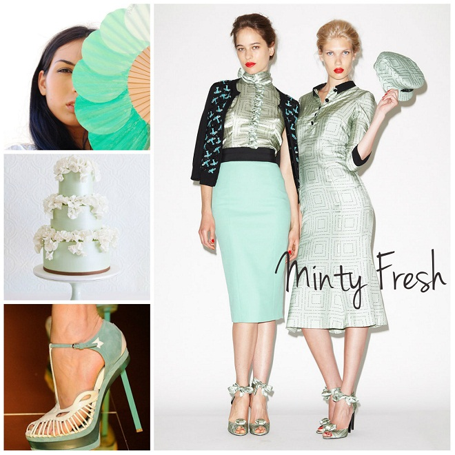 mint green weddings