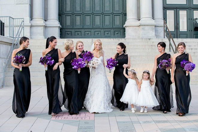 bridesmaids photos flower girls purple flowers please touch museum
