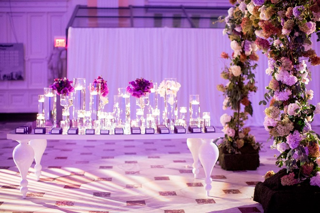 purple lighting for weddings evantine design please touch museum