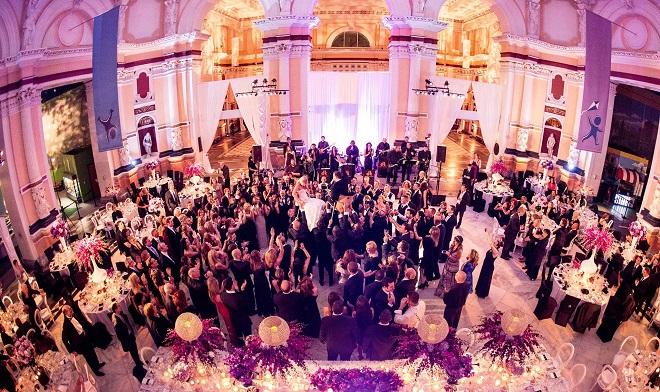 purple weddings philadelphia please touch museum evantine design