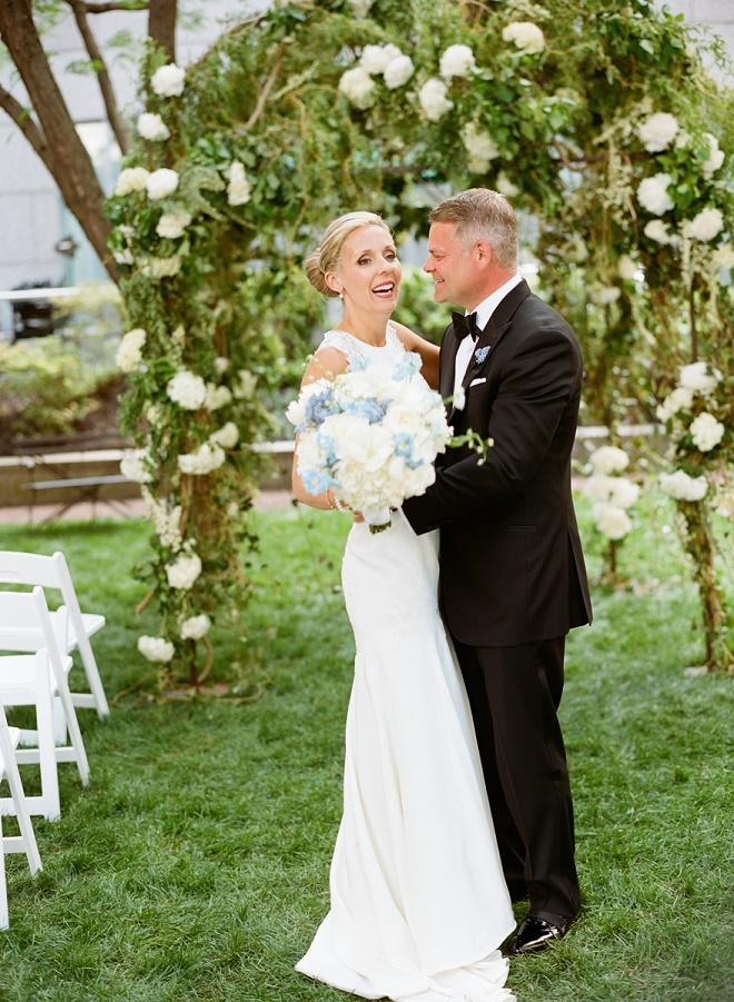 bridal portraits philadelphia weddings jewish chuppahs with white flowers evantine design liz banfield
