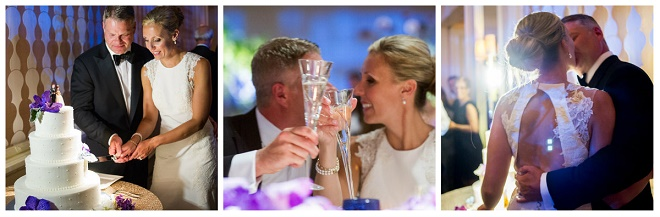 bride and groom photos reception cake cutting toasts liz banfield