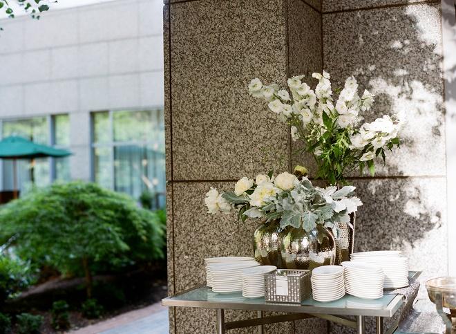 cocktail flower arrangements evantine design philly weddings liz banfield