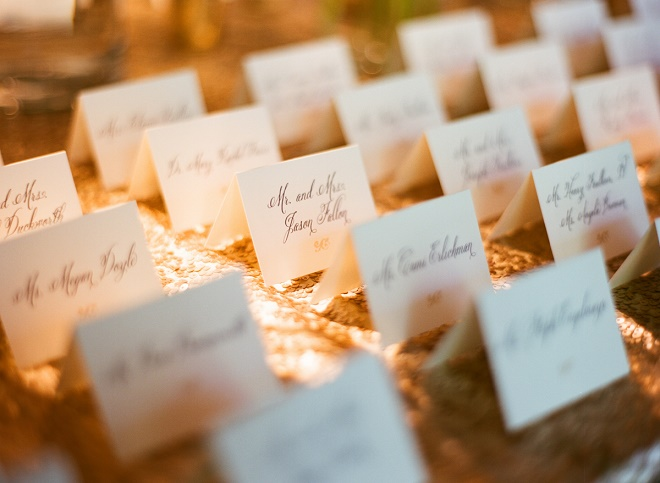 ivory place cards weddings evantine design liz banfield photography