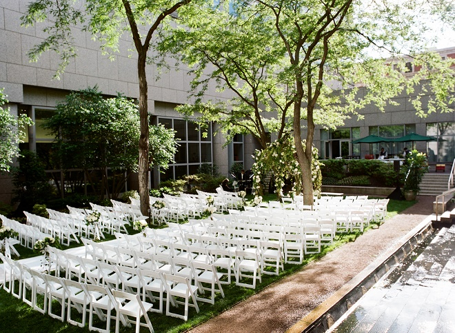 outdoor white chuppah garden ceremonies four seasons philadelphia evantine design liz banfield