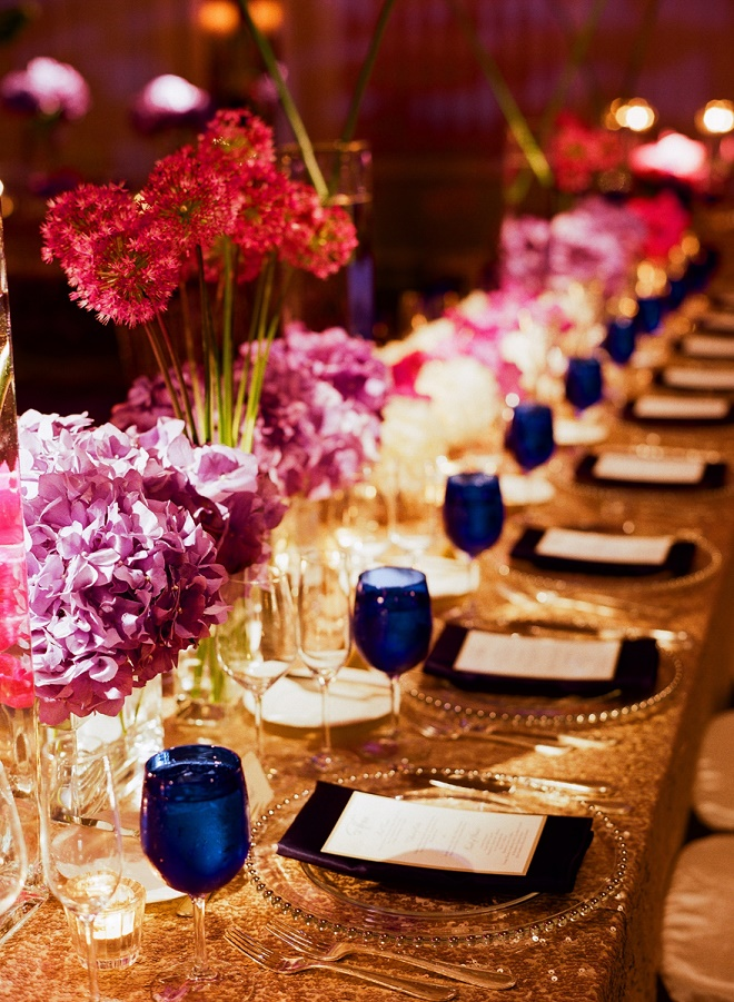 purple centerpieces weddings liz banfield evantine design